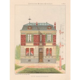 petite maison bourgeoise french architectural chromolithograph