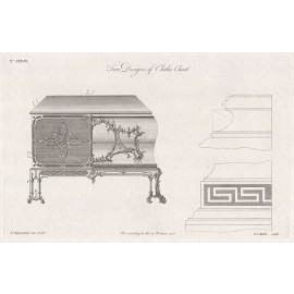 two designs cloths press Chippendale furniture print director