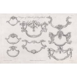 handles brass Chippendale furniture print director