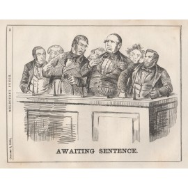 awaiting sentence engraving 1859 Melbourne Punch