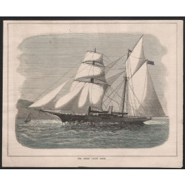 steam yacht saide engraving