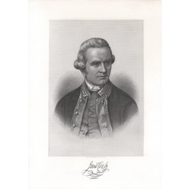 Captain James Cook engraving Hall portrait
