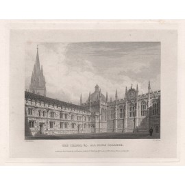 chapel all souls college oxford university engraving 2