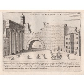 Forum of Nerva Engraving Jacobo Lauro Rome Italy