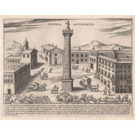 Column of Antoninus Pius Engraving Jacobo Lauro Rome
