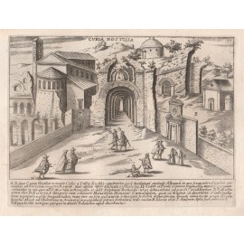 Curia Hostilia Engraving Jacobo Lauro Rome