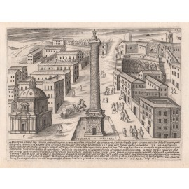 Trajan's Column Engraving Jacobo Lauro