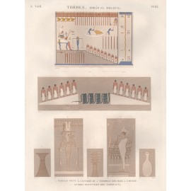 Egyptian tomb paintings Thebes engraving Napoleon Description Egypt