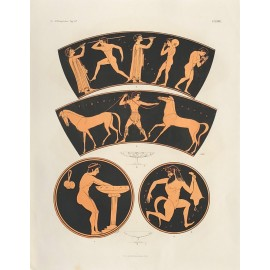 athletes Greek vase painting print Gerhard