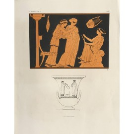 women Greek vase painting print Gerhard