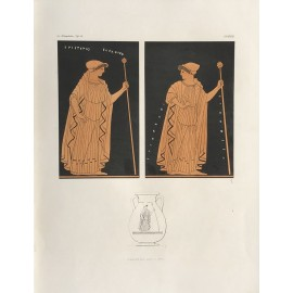 Greek vase painting women print Gerhard