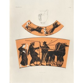 Greek vase painting Chromolithograph chariot Gerhard