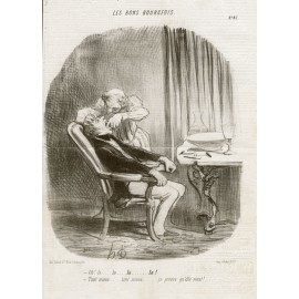 extraction Honore Daumier Charivari lithograph dentistry bons bourgeois