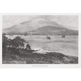 Hobart Kangaroo Point Tasmania engraving