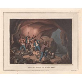 killing seals cavern antique print