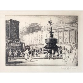 piccadilly circus london signed etching lambert