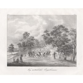 dance natives lithograph aborigine