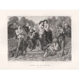 orlando wrestler shakespeare gallery engraving