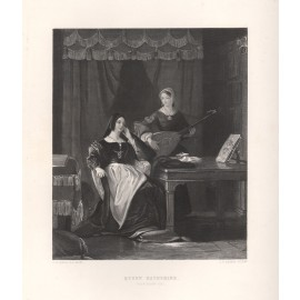 queen katherine shakespeare engraving