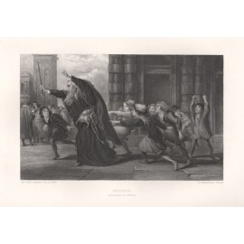 shylock merchant venice shakespeare engraving