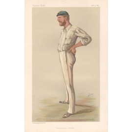 george bonnor antique Vanity Fair cricket chromolithograph