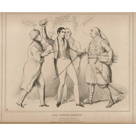 HB Doyle lithograph caricature Greek Papers Wellington