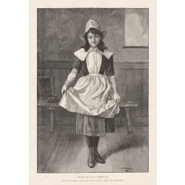 new girl storey engraving