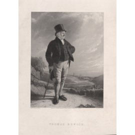 Thomas Bewick portrait engraving bacon