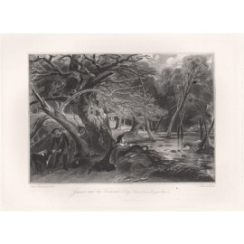 jacques wounded stag mezzotint Lucas Constable