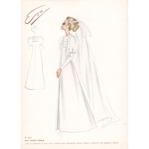 Italian wedding dress fashion design sketch