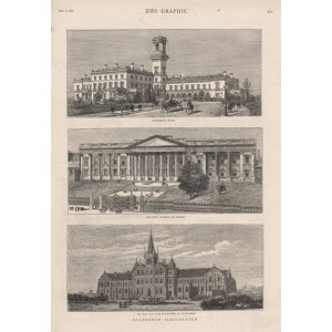 Melbourne - Government House, The Public Museum and Library, The Deaf and Dumb Institution, St Kilda Road.