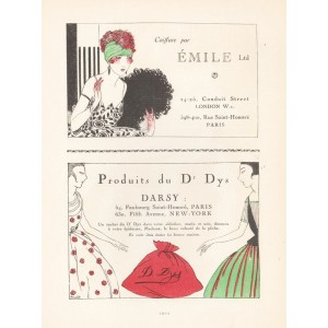Advertisements from Gazette de Bon Ton