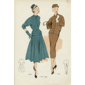 1950s French fashion design