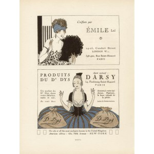 Gazette du Bon Ton Advertisement - Emile & Darsy