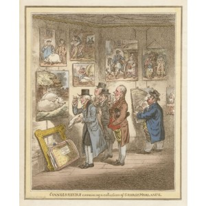 Gillray - Connoisseurs examining a collection of George Morlands