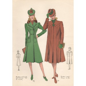 French Winter Fashions 1940