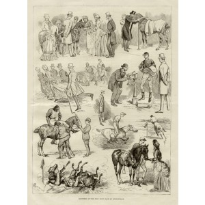 Sketches at the Polo Pony Race at Hurlingham