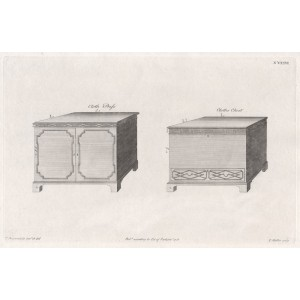 Chippendale Cloth Press & Chest Designs