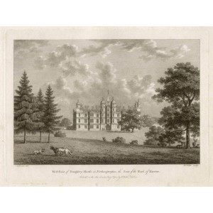 West Front of Burghley House in Northamptonshire, the Seat of the Earl of Exeter