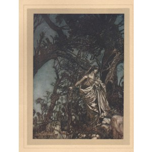 Rackham -  Act III, Scene II  Never so weary, never so in woe. Midsummer's Night Dream